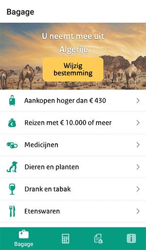 Douane bagage app